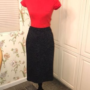 Anthropologie Bordeaux stretch pencil skirt